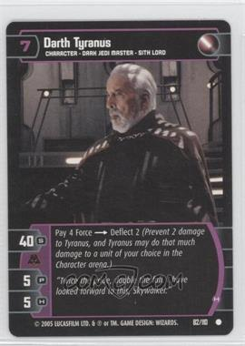 2005 Star Wars: The Trading Card Game - Revenge of the Sith Booster Pack [Base] #82 - Darth Tyranus