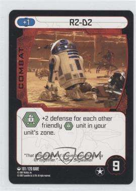 2007 Star Wars: Pocket Model Trading Card Game Ground Assault Booster Pack [Base] #101 - R2-D2