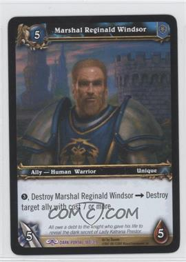 2007 World of Warcraft TCG: Through the Dark Portal Booster Pack [Base] #180 - Marshal Reginald Windsor
