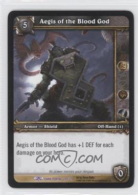 2007 World of Warcraft TCG: Through the Dark Portal Booster Pack [Base] #247 - Aegis of the Blood God
