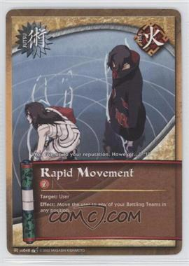 2008 Naruto Collectible Card Game: Battle of Destiny Booster Pack [Base] 1st Edition #48 - Rapid Movement