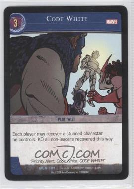 2008 VS System Marvel Universe - Booster Pack [Base] #MUN-301 - Code White