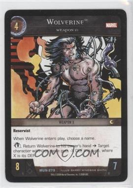 2008 VS System Marvel Universe Booster Pack [Base] #MUN-279 - Wolverine