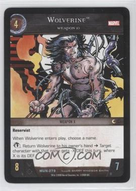 2008 VS System Marvel Universe Booster Pack [Base] #MUN-279 - Wolverine
