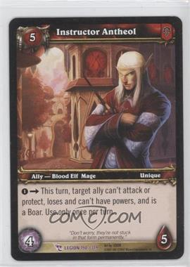 2008 World of Warcraft TCG: March of the Legion Booster Pack [Base] #190 - Instructor Antheol