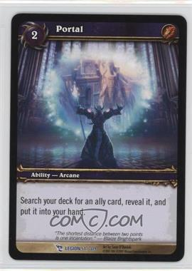 2008 World of Warcraft TCG: March of the Legion Booster Pack [Base] #51 - Portal