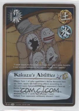 2010 Naruto Collectible Card Game: Fangs of the Snake - Booster Pack [Base] - 1st Edition Foil #674 - Kazuzu's Abilities