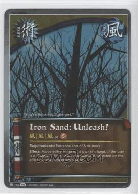 2010 Naruto Collectible Card Game: Fangs of the Snake Booster Pack [Base] 1st Edition Foil #740 - Iron Sand: Unleash!