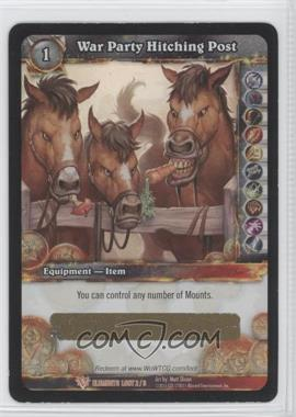 2010 World of Warcraft TCG: War of the Elements - Loot/Insert Redemptions #2 - War Party Hitching Post