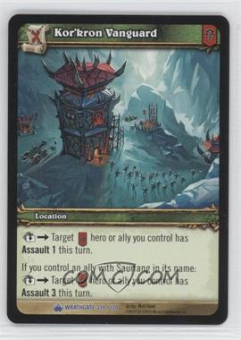 2010 World of Warcraft TCG: Wrathgate Booster Pack [Base] #219 - Kor'kron Vanguard