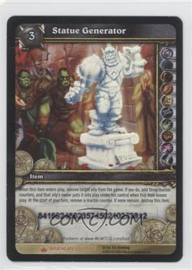 2010 World of Warcraft TCG: Wrathgate Loot/Insert Redemptions - Redeemed #2 - Statue Generator