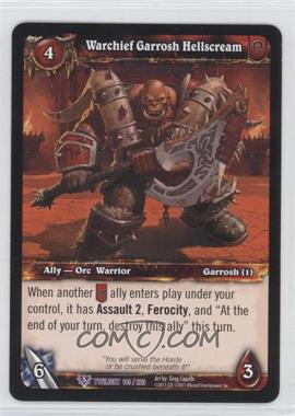 2011 World of Warcraft TCG: Twilight of the Dragons Booster Pack [Base] #149 - Warchief Garrosh Hellscream