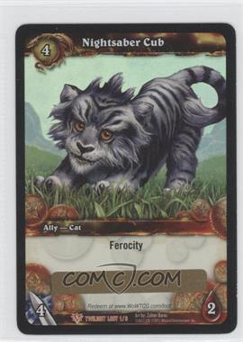 2011 World of Warcraft TCG: Twilight of the Dragons Loot/Insert Redemptions #1 - Nightsaber Cub