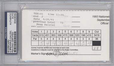 1900-Present Signed Official Scorecards - [Base] #GBDD - Gay Brewer, Doug Dalziel [PSA/DNA Certified Auto]