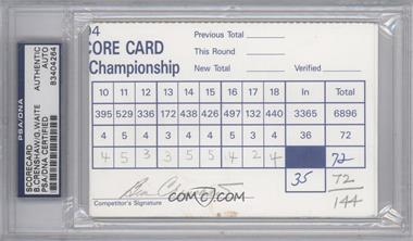 1900-Present Signed Official Scorecards #BEGW - Ben Crenshaw, Grant Waite [PSA/DNA Certified Auto]