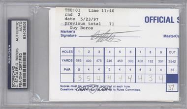 1900-Present Signed Official Scorecards #CSGB - Craig Stadler, Guy Boros [PSA/DNA Certified Auto]