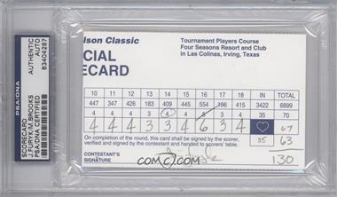 1900-Present Signed Official Scorecards #JFMB - Jim Furyk, Mark Brooks [PSA/DNA Certified Auto]
