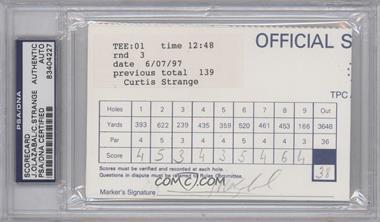 1900-Present Signed Official Scorecards #JOCS - Jose Olazabal, Curtis Strange [PSA/DNACertifiedAuto]