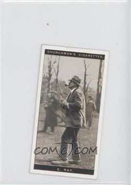 1927 Churchman's Famous Golfers Tobacco [Base] Small #35 - Edward Ray