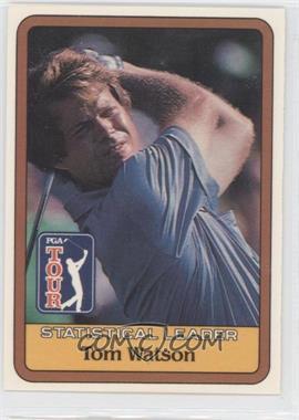 1981 Donruss Golf Stars - [Base] #TOWA -  Statistical Leader - Tom Watson