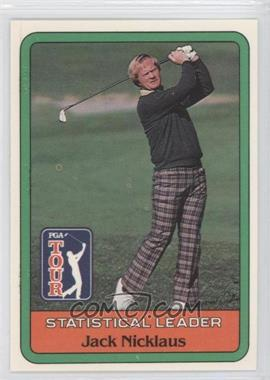 1981 Donruss Golf Stars #NoN - Jack Nicklaus Statistical Leader