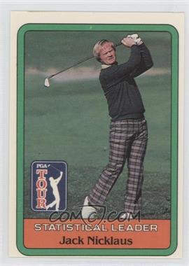 1981 Donruss Golf Stars #NoN - Jack Nicklaus Statistical Leader
