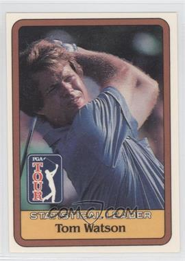 1981 Donruss Golf Stars #NoN - Tom Watson Statistical Leader