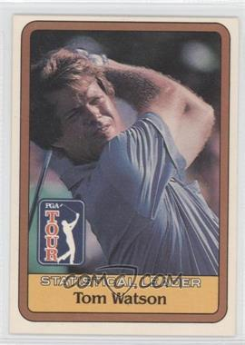 1981 Donruss Golf Stars #NoN - Tom Watson Statistical Leader