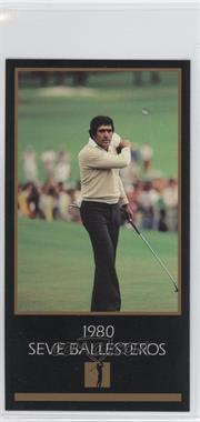 1993-98 Grand Slam Ventures Champions of Golf: The Masters Collection - [Base] #1980 - Seve Ballesteros