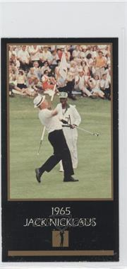 1993-98 Grand Slam Ventures Champions of Golf: The Masters Collection #1965 - Jack Nicklaus