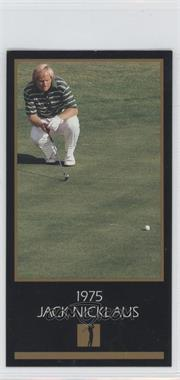 1993-98 Grand Slam Ventures Champions of Golf: The Masters Collection #1975 - Jack Nicklaus