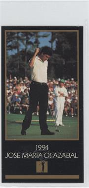 1998 Champions of Golf, The Masters Collection #N/A - Jose Olazabal