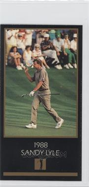 1998 Champions of Golf, The Masters Collection #N/A - Sandy Lyle