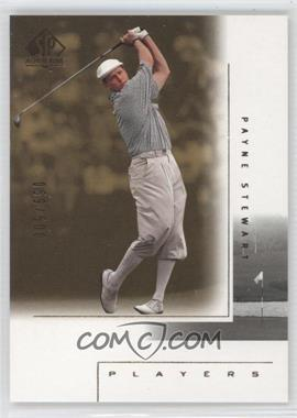 2001 SP Authentic - [Base] - Gold #123 - Payne Stewart /500