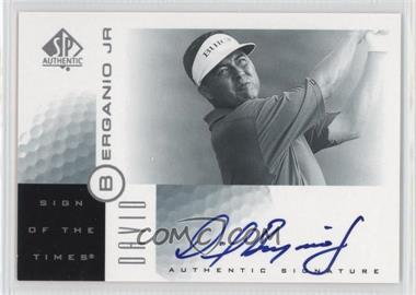 2001 SP Authentic - Sign of the Times #DB - David Berganio Jr.