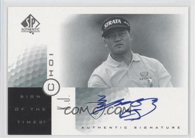 2001 SP Authentic - Sign of the Times #KJ - K.J. Choi