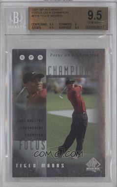 2001 SP Authentic Focus on a Champion #FC8 - Tiger Woods [BGS 9.5]