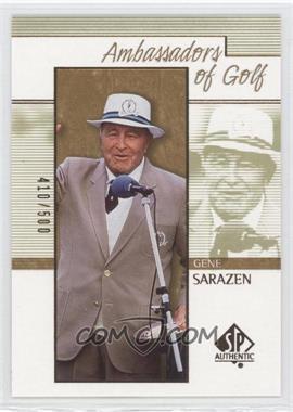 2001 SP Authentic Gold #130 - Gene Sarazen /500