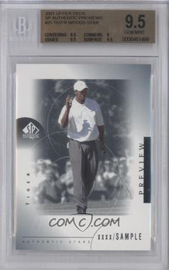 2001 SP Authentic Preview - [Base] #21 - Tiger Woods [BGS9.5]