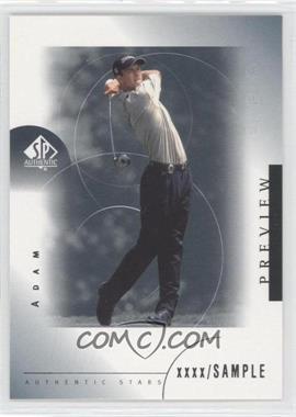 2001 SP Authentic Preview - [Base] #24 - Adam Scott