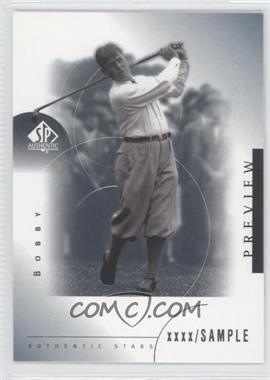2001 SP Authentic Preview - [Base] #39 - Bobby Jones