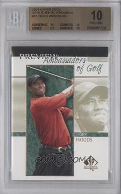 2001 SP Authentic Preview - [Base] #51 - Tiger Woods [BGS 10]