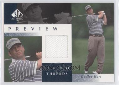 2001 SP Authentic Preview Authentic Threads #DH-AT - Dudley Hart