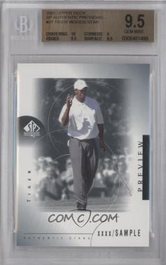 2001 SP Authentic Preview #21 - Tiger Woods [BGS 9.5]