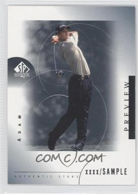 2001 SP Authentic Preview #24 - Adam Scott