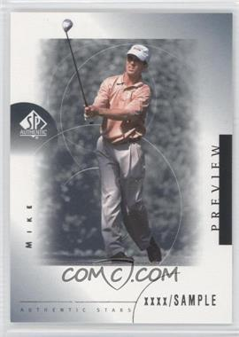 2001 SP Authentic Preview #26 - Mike Weir