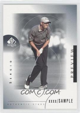 2001 SP Authentic Preview #31 - Sergio Garcia