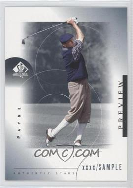 2001 SP Authentic Preview #38 - Payne Stewart