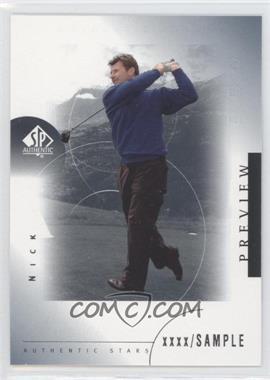 2001 SP Authentic Preview #44 - Nick Faldo