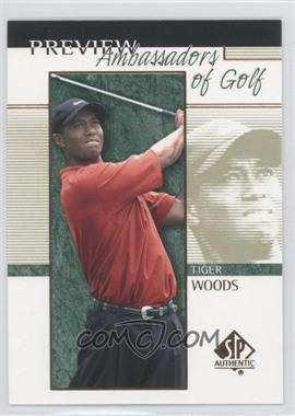 2001 SP Authentic Preview #51 - Tiger Woods